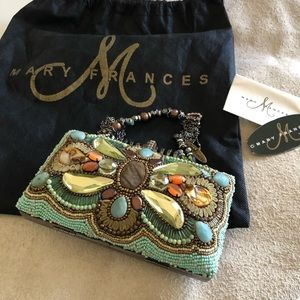 Mary Francis Beaded Clutch with Beaded Handle